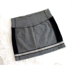 Lululemon Refresh Skirt Gray Black French Terry 6